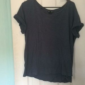 H&M basic tee gray blue color
